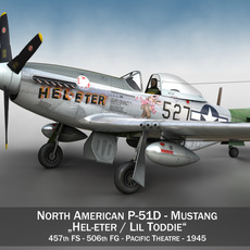 North American P-51D - Heleter 3D Model