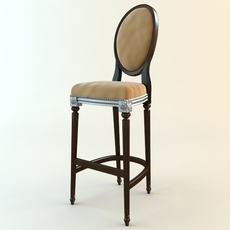 Antique Style Bar Chair 3D Model