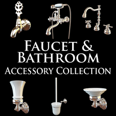 Faucet Bathroom Accessory Collection 3D Model