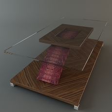 Coffee Table with skin 3D Model