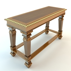 Baroque Console Table 2 3D Model