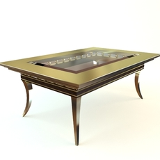 Table contemporary style glass 3D Model