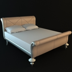 Traditional Style Sleigh Bed 3D Model