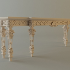 Baroque Console Table 3D Model