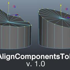 AutoAlignComponentsToPlaneTool for Maya 1.0.0 (maya script)