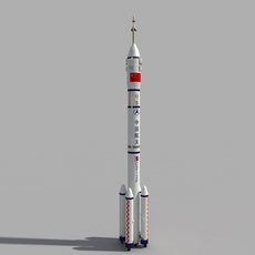 Chinese CZ-2F Rocket 3D Model
