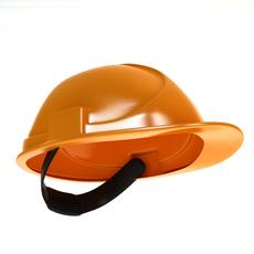 Worker helmet low poly 3D Model