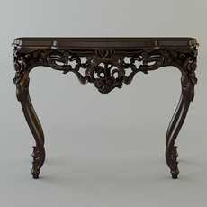 Classical Style Table Console 3D Model