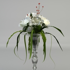 Elegant Bridal Bouquet 3D Model