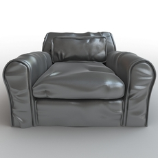 Soft leather armchair 3D Model
