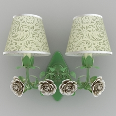 Greeen sconce with roses 3D Model