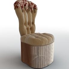 Office Elegant Armchair 3D Model