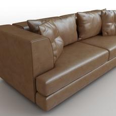 Sofa brown leather DS-41 Antonella Scarpitta 3D Model