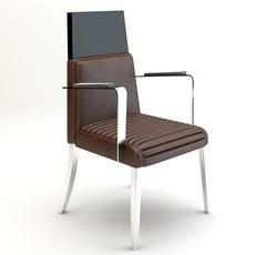 High back armchair 3D Model