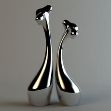 2 giraffe statue 3D Model
