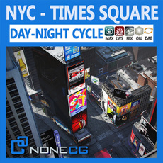 NYC Times Square 3D Model