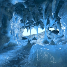 Ice Cave 01 3D Model