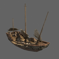 Chinese Boat 3D Model