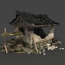 Chinese Broken house 3D Model