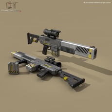 sci fi battle rifle 3D Model