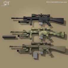 Mk12 sniper rifle 3D Model