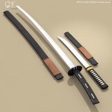 Katana and Wakizashi 3D Model