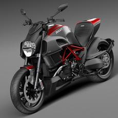 Ducati Diavel Carbon 2015 3D Model