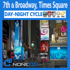 NYC Broadway,7th Av, Times Square 3D Model