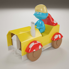 The Smurf Toy 3D Model