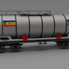CFR train tanker car 3D Model