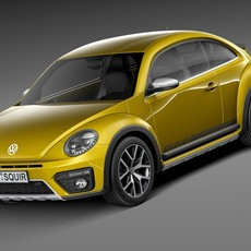 Volkswagen Beetle Dune 2016 3D Model