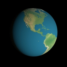 Animated 16K Earth Geographical Model 3D Model