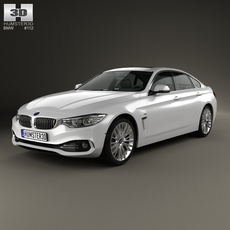 BMW 4 Series (F36) Gran Coupe Luxury Line 2013 3D Model