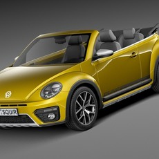 Volkswagen Beetle Dune Convertible 2016 3D Model