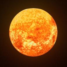 Animated Sun Model 3D Model