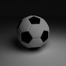 High Quality Classic Football 3D Model