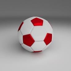 Classic High Quality Football 3D Model