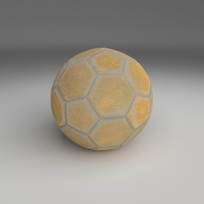 Old Used Football 3D Model
