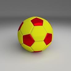Classic Football 3D Model