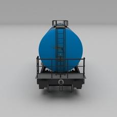 Aral rusty train tanker car 3D Model