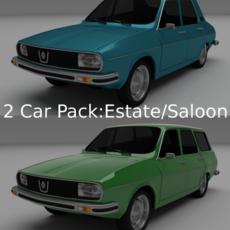Dacia 1300 / Renault 12 Pack 3D Model