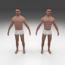 Human Male Pack 3D Model