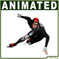 Speed Skater CG 3D Model
