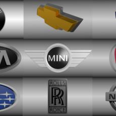 Car logo 40 pack 3D Model