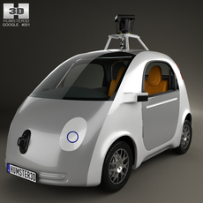 Google Self-Driving Car 2014 3D Model