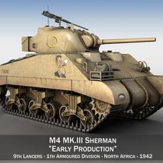M4 Sherman MK III - Early Production 3D Model