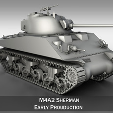 M4A2 Sherman - Medium Tank 3D Model