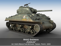 M4A2 Sherman - US Marines - Cuddles 3D Model