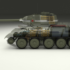 T-34/85 Interior/Engine Bay Full 3D Model