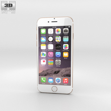 Apple iPhone 6 Gold 3D Model